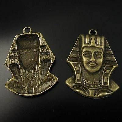 33*27mm antiqued bronze alloy egyptian pharaoh king pendant charms 10pcs
