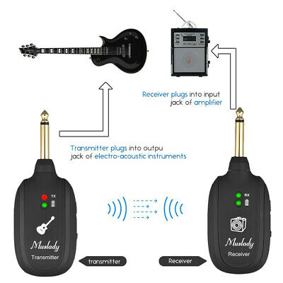 High Quality UHF Guitar Wireless Transmitter Receiver System Max. 50M Range A5T4