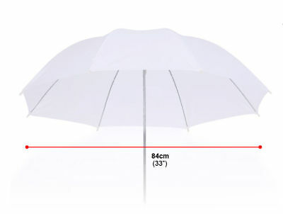 "33"" Photography Soft Umbrella 84cm Flash Speedlite Shoot Lighting Translucent 33"