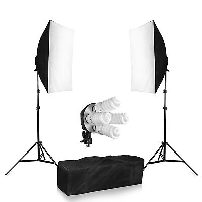 1520w Continuous Lighting Softbox Bulb Kit Head Soft box Earthed