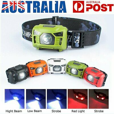 LED Head Torch Headlight Lamp CREE Camping Induction Headlamp USB Rechargeable