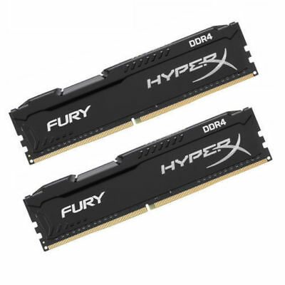 Für Kingston HyperX FURY 16GB 2x 8GB DDR4 2400 MHz CL16 DIMM Desktop-Speicher