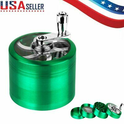 Green 4 Layer Metal Tobacco Crusher Smoke Herbal Herb Grinder Hand Muller Alloy