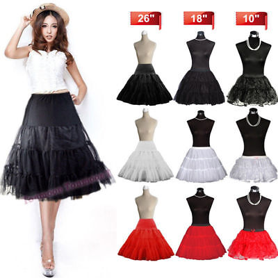 Swing 50s Retro Fashion Skirt Tutu PetticoatRockabilly FancyDress Net Underskirt