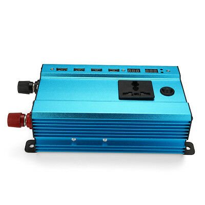 3000W Car Solar Power Inverter DC 12V to AC 220V 4 USB Interface Converter AU