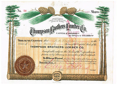 Thompson Brothers Lumber Co., Doucette/ Texas 1906, beautiful, #50