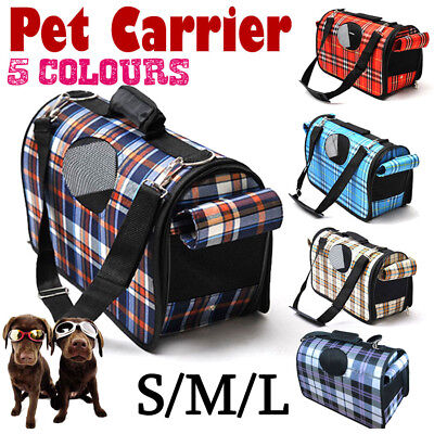 S/M/L Pet Dog Cat Carrier bag Soft Crate Travel Carry Cage Portable Foldable OZ