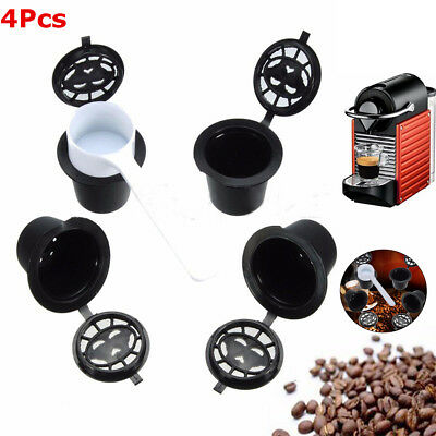 4X Refillable Cup Filters Reusable Coffee Tea Capsule Pod For Nespresso Machine