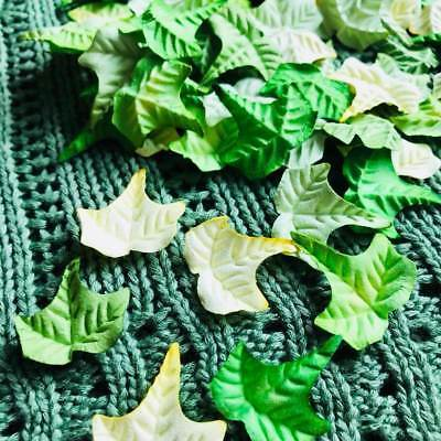 Mulberry paper Craft Maple Leaves Mix Green Colour Flower Scrapbooking & D.I.Y