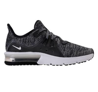 15d19fac33c Girls Boys Juniors NIKE AIR MAX SEQUENT 3 GS Black Trainers 922884 001