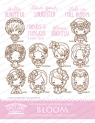 Bloom kit the greeting farm cling mount rubber stamp stamping craft bloom kit the greeting farm cling mount rubber stamp stamping craft flower bean m4hsunfo