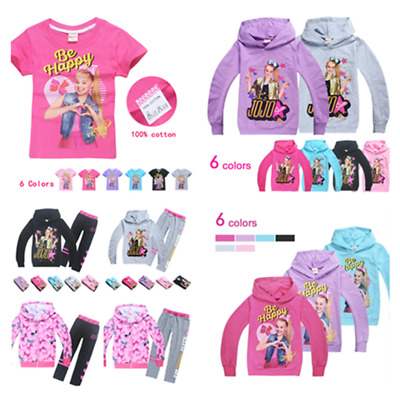 Jojo Siwa Girls T shirt Hoodies Cartoon SweatShirts Tops Jumpers Pants Outfits