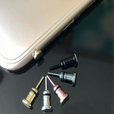 1Pcs 3.5mm Earphone Jack Micro USB Cell Phone Port Cover Cap Dust Protector New