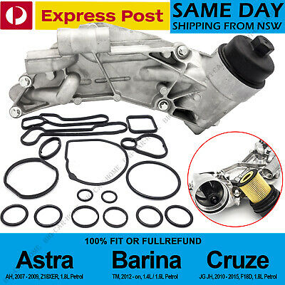 Oil Cooler Assembly Fit Holden Cruze Astra Barina TM Trax & Full 15 PCS Seal Kit