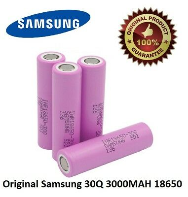 100% GENUINE Samsung 18650 Lithium 30Q 3000mAh 15A Li-ion Battery Vape