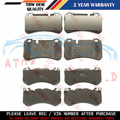 For Mercedes Benz C63 Amg 2008- Front Rear Trw Brake Pads Set Premium Quality