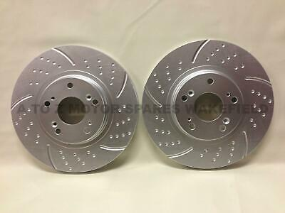 FOR HONDA CIVIC EP3 TYPE R FRONT DIMPLED GROOVED PERFORMANCE BRAKE DISCS 300mm