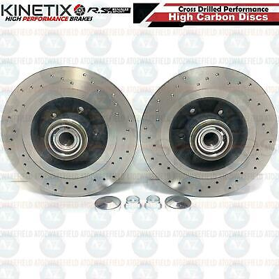 For Clio 2.0 Mk3 Sport 197 200 Rear Drilled Brake Discs Abs Bearing Fitted Tx099