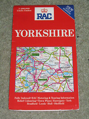 Regional Road Maps: Yorkshire by Royal Automobile Club (Sheet map, folded, 1990)