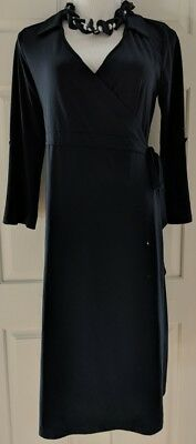 Old Navy Maternity Dress Black Crossover Wrap Career Cocktail Party Medium M