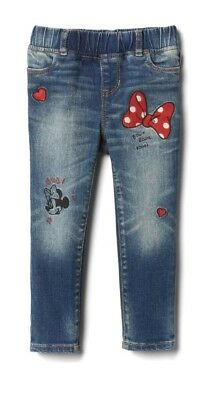 Gap Jeans Disney Minnie Mouse 12 - 18 Months  Stretch Jeggings Jeans Embroidered