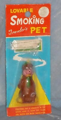 Hanna Barbera? Vintage LOVABLE SMOKING PET YOGI BEAR 1960s Blows Smoke Rings