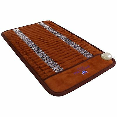 Ereada FIR Amethyst Mat - Negative Ion Infrared Heating Pad - Mini 20x32 Brown