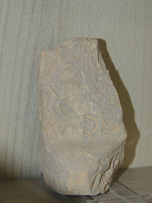 Antique Stone  Fragment With Graffiti