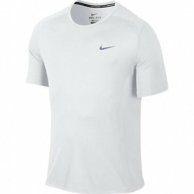 sale retailer 2289e 9197b New Nike Men s Dri-FIT Miler S S Shirt White Reflective Silver Small