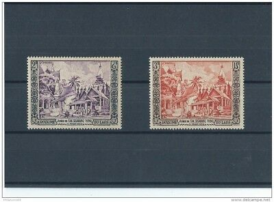 Lot : 042018/006 - Laos 1954 - Yt N° 28/29 Neuf Sans Charniere ** (Mnh) Gomme D'