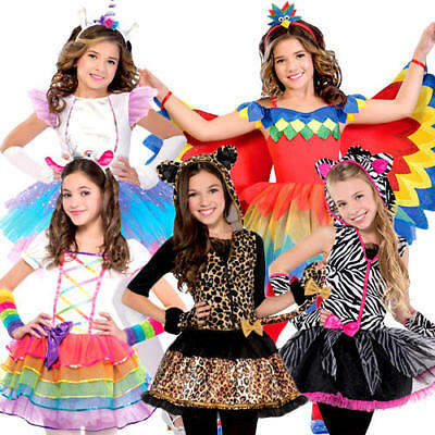 Animal Tutu Girls Fancy Dress Halloween Fairytale Kids Childrens Teen Costumes