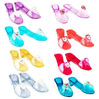 Disney Jelly Shoes Girls Fancy Dress Fairytale Princess Kids Childs Accessories