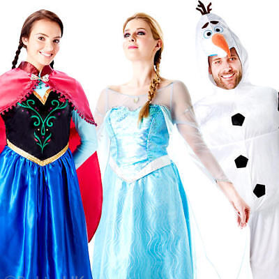 Adults Disney Frozen Fancy Dress Mens Womens Princess Fairytale Olaf Costume New  sc 1 st  PicClick UK & ADULTS DISNEY FROZEN Fancy Dress Mens Womens Princess Fairytale Olaf ...