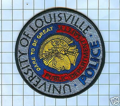 Police Patch  - Kentucky  - UNIVERSITY OF LOUISVISVILLE - ROUND CIRCLE