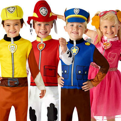 Paw Patrol Kids Fancy Dress Cartoon Book Day Police Dog Childrens Costume Outfit
