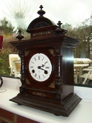 Junghans 8 day striking mantel clock in working order for restore requires bezel