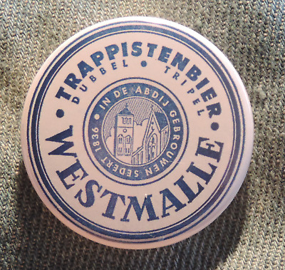 Pin Button Badge Ø38mm  Trappistenbier WESTMALLE (bière)