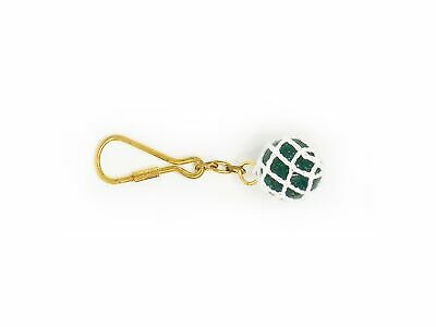 Five Oceans Solid Brass/Glass Nautical Keychain - BC 2221