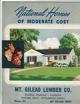 NATIONAL HOMES of MODERATE COST Building Plans: Mt. Gilead, Ohio Lumber 1947