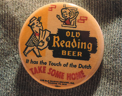 Pin Button Badge Ø38mm  Olb Reading ( bière - Beer - Bier )