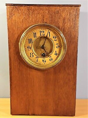 Antique Home-Made Oak Mantle Clock from Reginald J Cheetham Collection