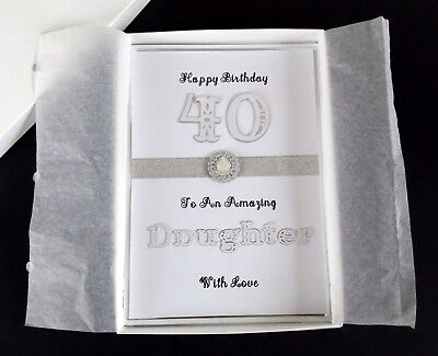 Luxury Handmade Daughter Birthday Card, Boxed, 3D Card, 21st 18th 40th 50th 60th