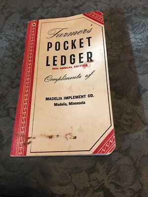 1952-1953 John Deere Pocket Ledger Madelia IMPLEMENT Southern Minnesota 86th #2