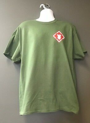 US Army Corps of Engineers ESSAYONS SAPPERS OD Green Short Slv Morale T-Shirt
