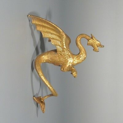 Antique French Gilded Bronze Furniture Decoration, Dragon, Chimera, Legend