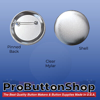 "100 pcs. 2-1/4"" inch Pin Badges Set for TECRE CABUTTONS Button Makers Machines"