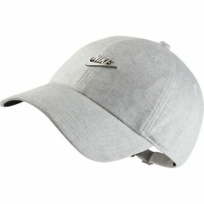 NIKE NSW H86 Metal Futura Unisex Adjustable Hat Cap Light Grey Silver  891287-051 -  31.95  0a78becab4dd