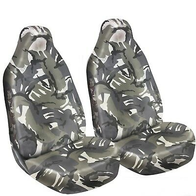 Premium Grey Camo Heavy Duty Front Seat Covers For NISSAN NV200 COMBI 10-ON
