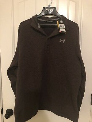 Nwot Under Armour Mens Storm Fleece 14 Zip Sweater Dark Blue Sz