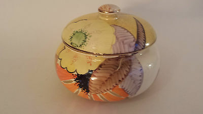 Large Art Deco Grays Susie Cooper style lidded box gilded and signed (Mae) A2112
